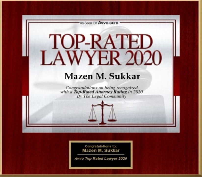 Top Rated Lawyer 2020 - Mazen Sukkar